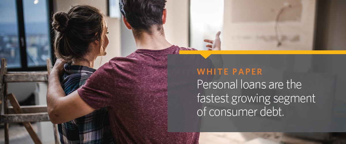 Personal loans are the fastest growing segment of consumer debt.